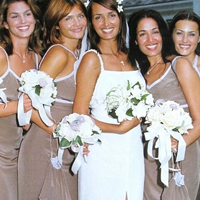 Gail Elliott wedding with Super models