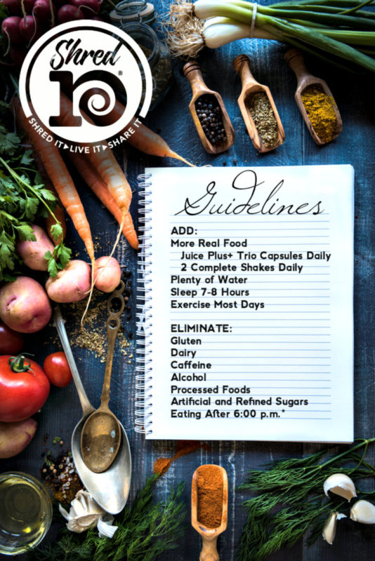 Shred 10 Healthy Eating Program
