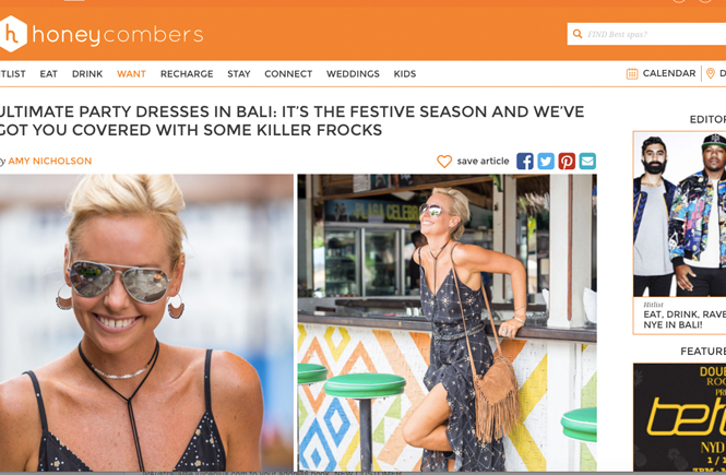 Honeycombers Bali Party Dresses for the Festive Season
