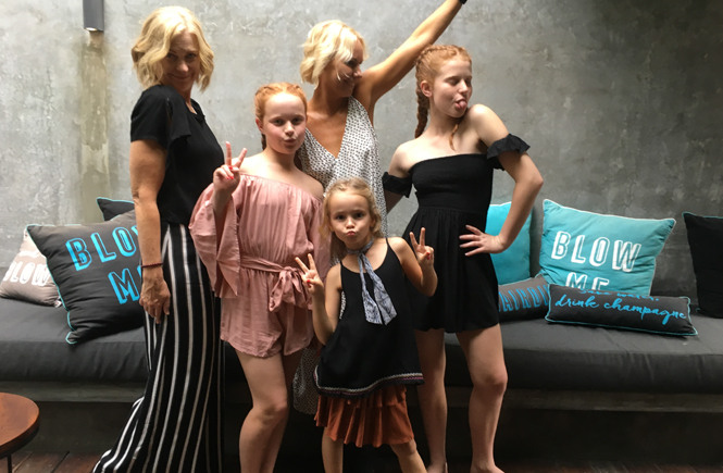 Girls Get a Bali Blow Out