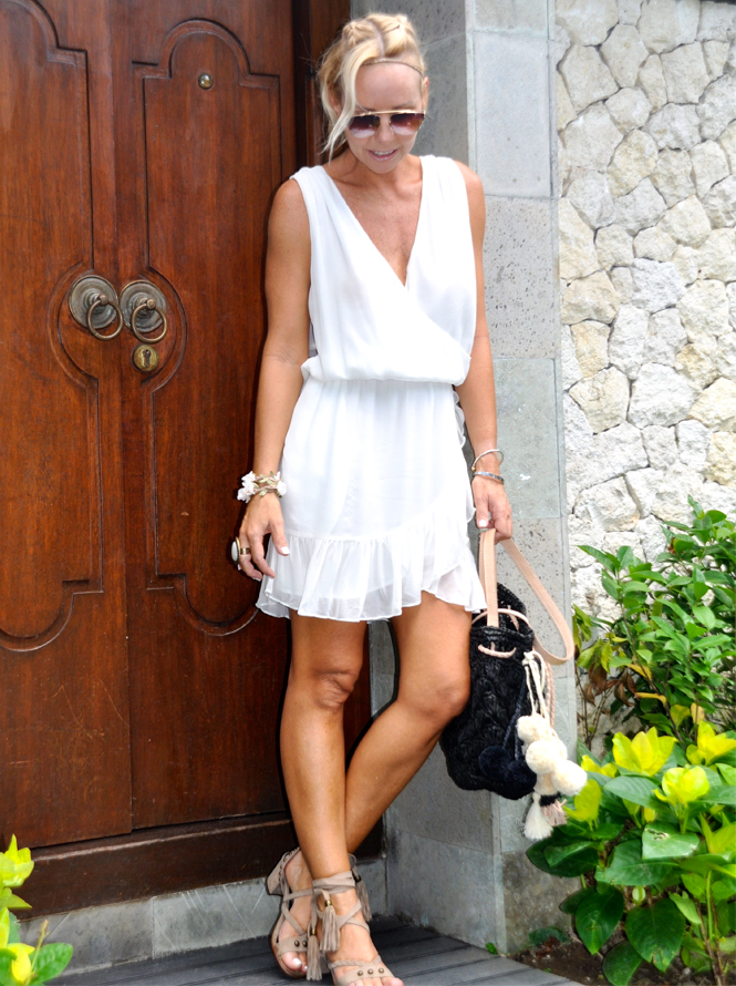 Tropically White Little Joe Dress